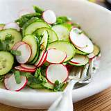 ... overflowing garden and whip up our simple radish and cucumber salad
