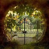 Cool gate to a secret garden | Beyond The Gate | Pinterest