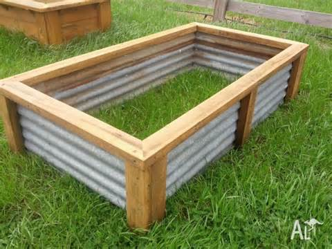 raised vegetable garden bed planter box recycled materials for sale in