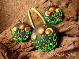... jewelry - Dangling earrings - Colorful pendant - Gift ideas - For her