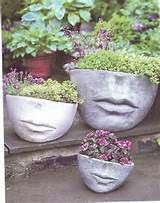 face planters (472×600) | Whimsical Garden | Pinterest