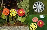 Decoração de jardim com material reciclado | Decorando Casas