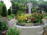 memorial to st cuthbert lyndisfarne gardens garden designs pinter