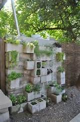 Cinder block garden wall | DIG, PLANT, GROW | Pinterest