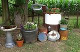 rustic yard decor country gardens pinterest