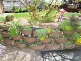painting retaining walls garden walls gardens yards painted tire
