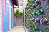 Amazing Urban Vertical Garden Made From Recycled Soda Bottles