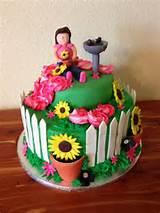 Flower garden cake | Cakes I have made! | Pinterest