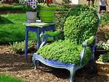 DIY idées de décoration de jardin – transformer la vieille chaise ...