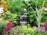 Water garden waterfall (all you really need is a small amount of water ...