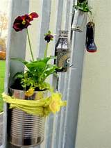 ideas for eco gardening recycled planters for a school gardening club