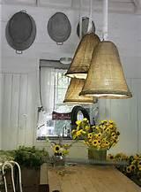 burlap lights farms gardens decor ideas lamps shades burlap