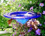 BIRD Feeder, BUTTERFLY Feeder, Garden Art, Outdoor, stained glass, co ...