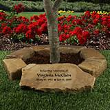 Small Tree Memorial Garden Stone Ring - Personalized Gifts