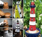 See full tutorial: How to Make a Clay Pot Lighthouse