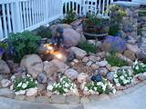 Rock garden with small fountain. | Outside Ideas | Pinterest