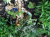 Fairy house with water feature | fairy garden ideas | Pinterest