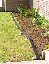 pallet bed edging. More pallet patio, gardening, DIY furniture ideas ...