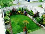 formal garden for small house landscaping ideas with several planting