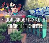 41 Cheap & Easy Backyard DIY Projects