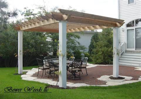 Bower Woods llc. Custom Garden Structures, Rustic Pergolas