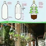 plastic bottle planter small space gardening pinterest