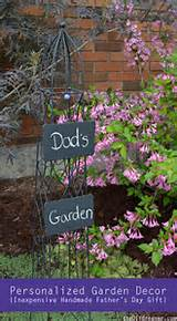 Personalized Garden Decor from The DIY Dreamer . Love the way this ...