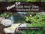 how to build your own backyard pond tutorial