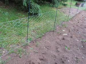 The fence is high enough to keep the dogs out but low enough for me to ...