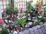 gnome garden fairy gardens pinterest