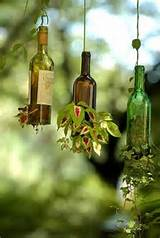 ... made of glass bottles, creative glass recycling ideas for your garden