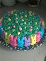 easter peep cake bake it pinterest