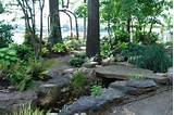 woodland back garden reno on lake norman traditional landscape