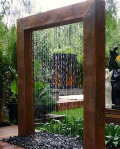 diy water feature ideas diy outdoor water wall fountain