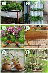 Up cycled planters | Great Garden DIY Ideas | Pinterest