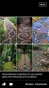 Gardens Ideas, Stones Art, Mosaics, Gardens Paths, Pebble Mosaic ...