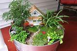 Beautiful Fairy garden design with a miniature house and a garden path ...