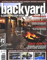 backyard and garden design ideas magazine cover