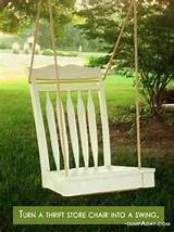 Spring garden ideas- thrift chair swing | Designing a new backyard ...