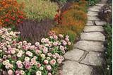 autumn garden paver path