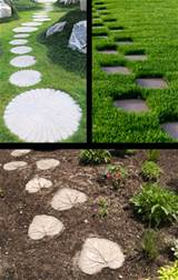 DIY Stepping Stone Path Ideas
