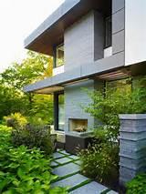 modern side garden
