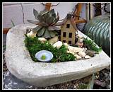 miniature container garden 300x244 Early Spring Easter Fairy Gardens