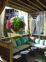 Back Deck Hanging BasketBenches, Decks, Outdoor Living Room, Back ...