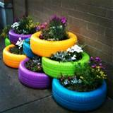 Tires flower pots | Home living | Pinterest