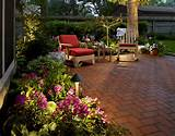 ... patio landscape design ideas with DIY chairs and garden flower