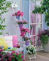 ... Gardens Ideas, Candies Colors, Ideas For, Decor Ideas, Ladders, Flower