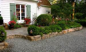 english style garden sandstone wall flagstone patio from macqueen
