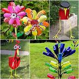 for some ideas for garden art then here you go for some creative art ...