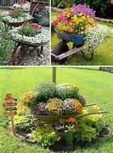 24 creative garden container ideas use wheel barrows as planters